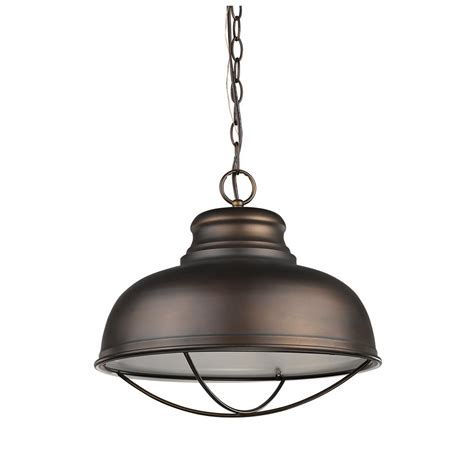 Indoor Pendant Lighting Acclaim Lighting Ansen Indoor 1 Light Rubbed Bronze Pendant With Metal Shade In11175orb