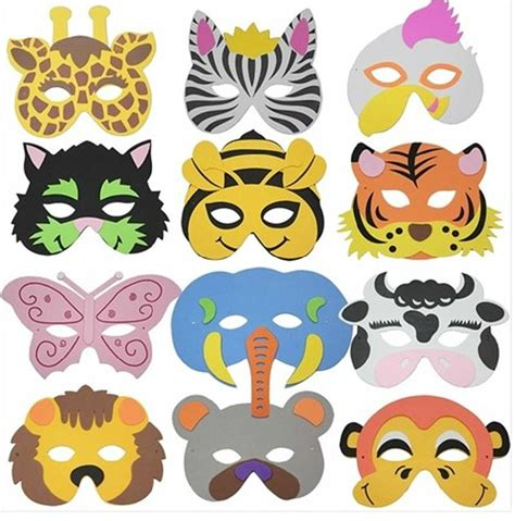 new year animal masks black and white 15pcs child costume masquerade