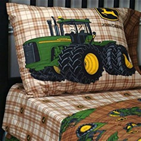 john deere comforter set com john deere traditional brown plaid bedding