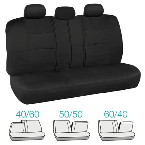 full bench seat covers full seat seat covers in black high back bucket front