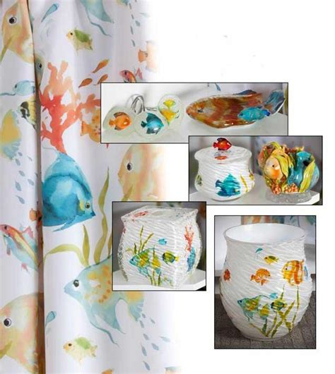 fish bathroom decor rainbow fish bath accessories decor from