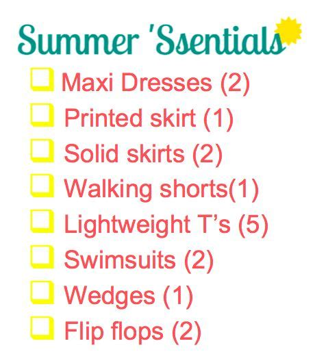 Summer Wardrobe Checklist by 17 Best Images About Summer 2013 Colours Styles And