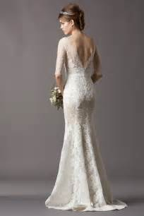 Sleeve tank top brush train lace sheath column wedding dress awa0022