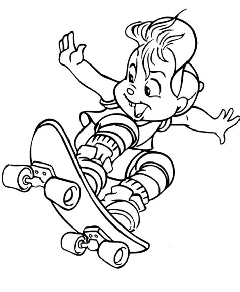 Skateboarding Boy 3 Coloring Page Coloring Pages For 3 Year Boy