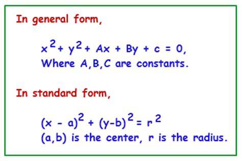 equation of a circle calculator calculator tutorvista