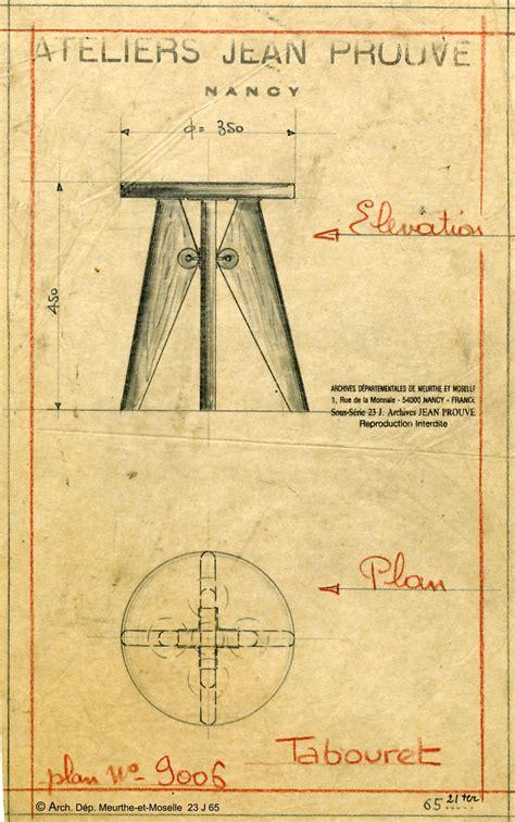 Tabouret Jean Prouvé by Vitra Tabouret Solvay Design Jean Prouv 233