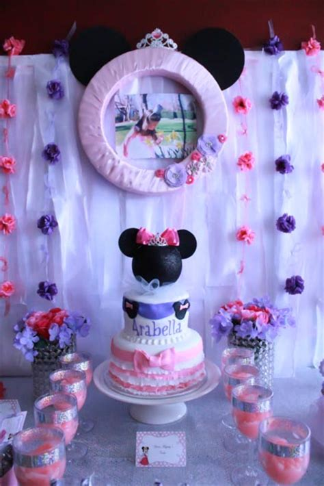 Arabellas Pri Ess Minnie Mouse  Ee  Birthday Ee   Party Project