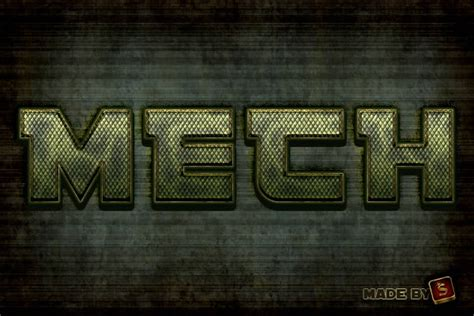 pattern layer style photoshop quick tip create a mech inspired text effect in photoshop