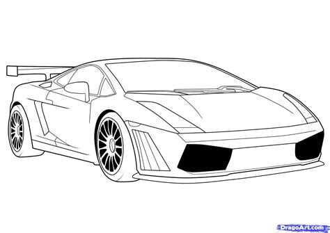 Drawn Car Lamborghini Pencil And In Color Drawn Car
