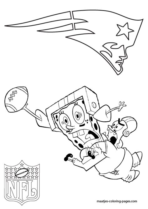 nfl coloring pages patriots new england patriots patrick and spongebob coloring pages