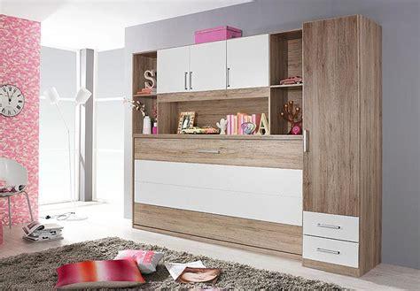 Kleiderschrank 90x200 by Klappbett Set Albero Bett Kleiderschrank Regal Eiche