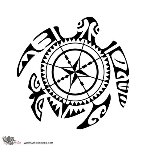 tattoos that go with tribal compass turtle direction the meaning of this