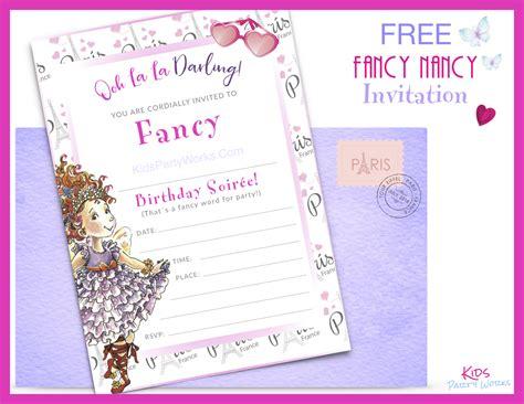 Fancy Nancy Party Fancy Invitation Template