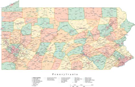 map of pa counties pennsylvania map counties and cities