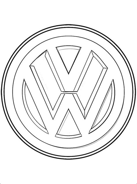 volkswagen logo coloring coloring pages