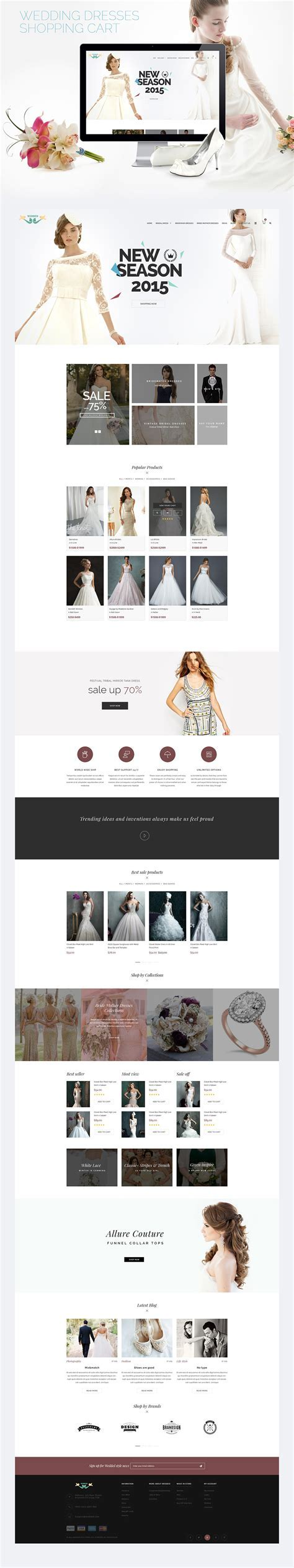 Wedding eCommerce Shopping Website PSD Template Download