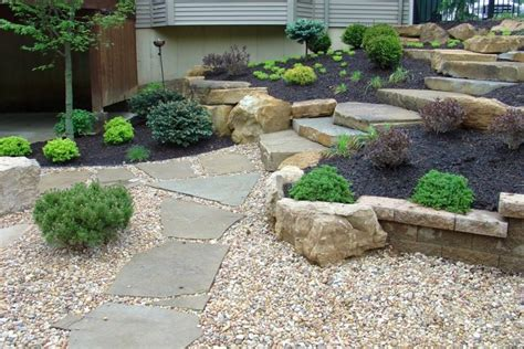 simple rock garden elevated simple rock garden ideas with black sand