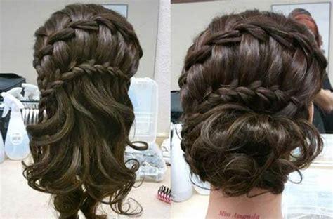 waterfall braid bun 28 diy hairstyles how to diy double waterfall braided bun hairstyle