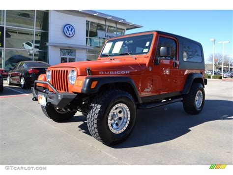 orange jeep wrangler unlimited 2006 impact orange jeep wrangler unlimited rubicon 4x4