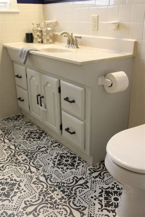 Painting Bathroom Vanity Before And After A Painted Bathroom Vanity Makeover Before And After On Shady