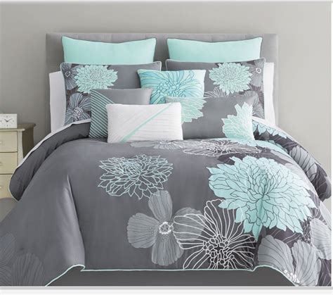 aqua and grey bedding the bedspread i m getting from jc penneys bedroom ideas