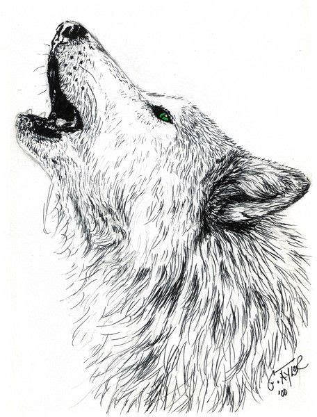 wolf howling tattoo designs howling wolf by gayle on artwanted pen ink