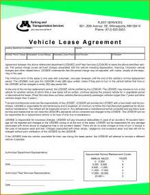 car leasing agreement template doc 422541 car lease contract template car lease