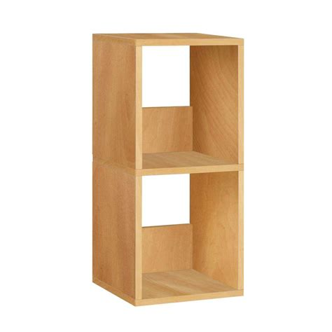 Way Basics Duo 2 Shelf Narrow Bookcase Storage Shelf In Narrow Wooden Bookcase