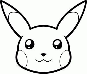 Pikachu Face Coloring Pages | how to draw pikachu s face hellokids com