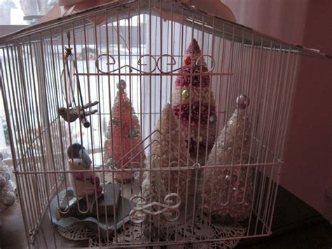 old bird cage christmas bird cages pinterest