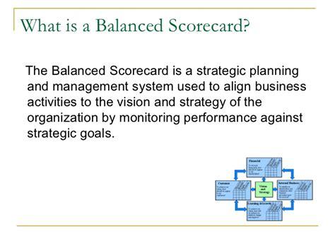 Mba Means Assurance Of by Balanced Scorecard Presentation