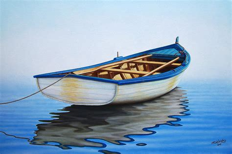 fishing boat art work pointing offshore painting by horacio cardozo