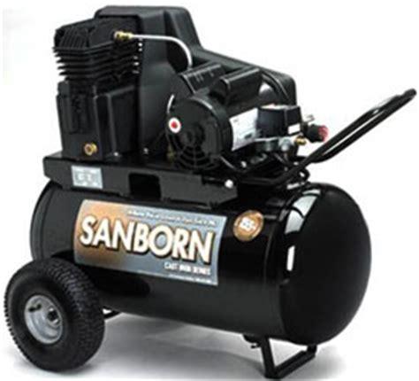 sanborn air compressor reviews and more