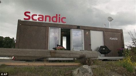 mobile hotel rooms scandic s to go hotel room is delivered to whichever