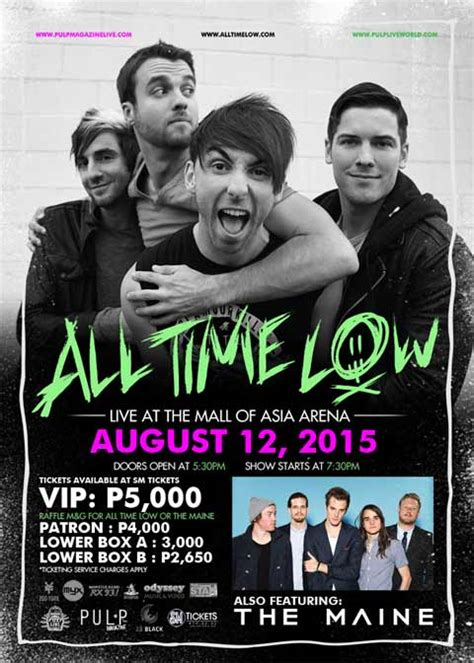 a for all time 2015 all time low live in manila 2015 with the maine