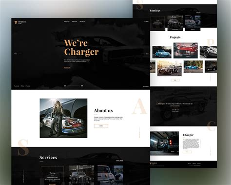 Automobile Website Template Free Psd Download Psd Bike Showroom Website Template Free