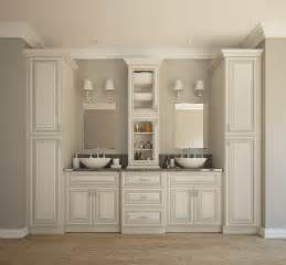 Premade Bathroom Cabinets Signature Vanilla Glaze Pre Assembled Bathroom Vanities