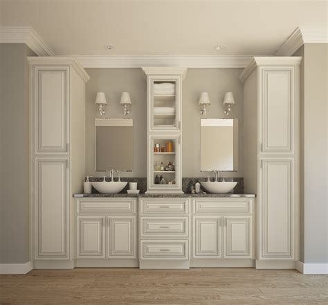 Top Quality Kitchen Cabinets by Signature Vanilla Glaze Ready To Assemble Bathroom