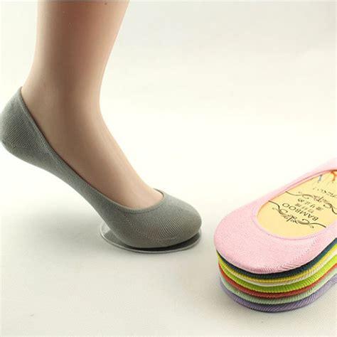 Invisible Socks Lace Kaos Kaki Wanita Transparan 1pair chic bamboo fiber liner socks no show peds boat ballet plain footies new