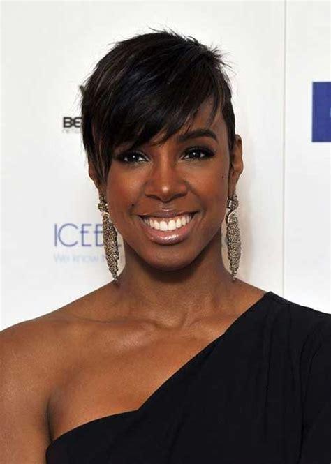 short side sweep styles for black women short hairstyles for black women with round faces short