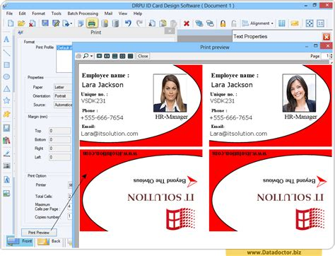 sle id layout free download employee id card design template 28 images webbience