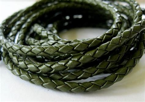Brooch Khaki Handmade Bros Simple Bros leather bolo cord 3mm braided jewelry lace khaki green 2 yard from jewelrycatsupplies on etsy studio