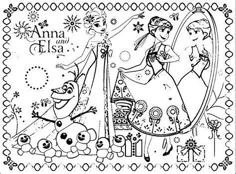 coloring page frozen fever check out these free printable coloring pages free