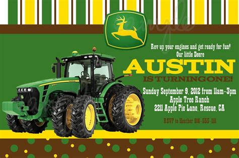 john deere printable birthday invitations creating a john deere birthday invitations party all