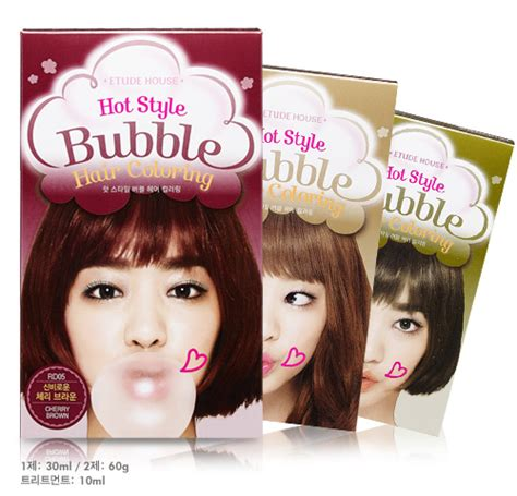 bubble hair style new etude house hot style bubble hair coloring