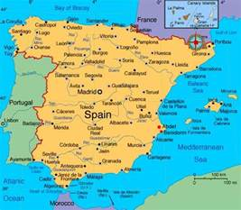 Spain On Map by Maps Of Spain