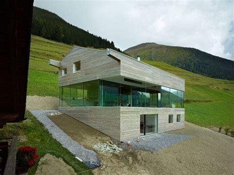 residencia inclinada maison vald 180 entremont interiores