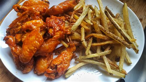 photos hot wings mmm oven baked hot wings and fries jeffreyw flickr