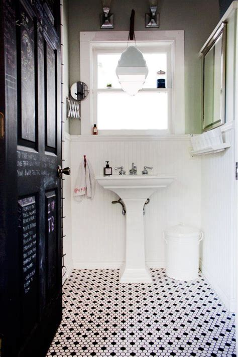 27 Small Black And White Bathroom Floor Tiles Ideas And Small Black And White Bathrooms Ideas