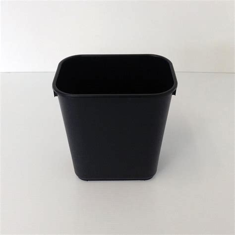 small wastebasket small black plastic wastebasket prestige office accessories